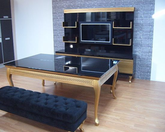 If You Are A Luxury Lover And Want A Lavish Pool Table In Your Living Room,  Then Nothing Can Beat Koralturku0027s Luxury Gold Pool Table.